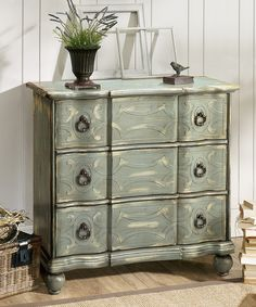 Look at this Antique Turquoise Scroll Chest on #zulily today!