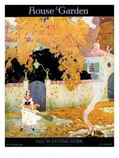 House & Garden Cover - October 1916 Poster Print  by The Reeses at the Condé Nast Collection