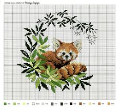 Broderie Cute Cross Stitch, Cross Stitch Animals, Modern Cross Stitch, Cross Stitch Charts, Cross Stitch Patterns, Loom Patterns, Cross Stitching, Cross Stitch Embroidery, Crochet Cross