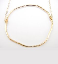 Gold-Gia Hoop Necklace | Earrings aren't the only kind of bling that looks good with ho... | Necklaces