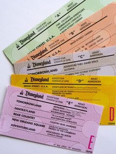 Disney specialty Vintage Style E Tickets