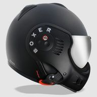 The ROOF BOXER BLACK SHADOW has revised top venting, blacked out chin guard fixings and comes with both a regular clear (semi-tint) visor and a silver iridium visor.THE CAFE RACER Custom Motorcycle Helmets, Custom Helmets, Motorcycle Gear, Motorcycle Accessories, Custom Bikes, Biker Helmets, Women Motorcycle, Moto Bike, Cafe Racers