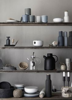 Kitchen things in shades of gray . Home decor . Interior design inspiration . Selfs .