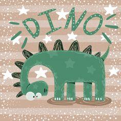 Cute, funny, crazy dinosaur characters P. Dinosaur Illustration, Cute Illustration, Painting For Kids, Art For Kids, Die Dinos Baby, Dino Kids, Dinosaur Wallpaper, Cute Dinosaur, Kawaii Drawings