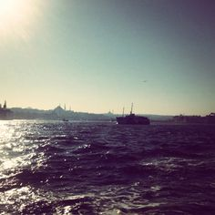 Ferry ride across the Bosphorus, Istanbul