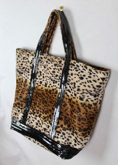 Leopard Vanessa Bruno style tote bag leopard print shopper holiday gift for  her glitter gifts leopard skin bag. Léopard Vanessa Bruno sac cabas ... 9099903ce493