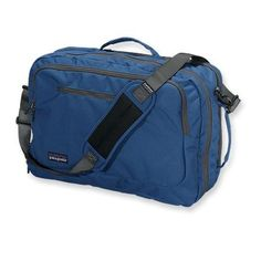 A soft-sided carry-on bag made with recycled fabric that converts to a backpack, holds up to five days' worth of clothing, and meets most airline carry-on requirements; holds most 17˝ laptops. Great gift for a traveling Dad. #ForDad