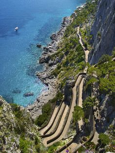 Path to the Sea, Capri, Italy