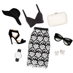 A fashion look from June 2015 featuring bralet tops, floral pencil skirt and monk-strap shoes. Browse and shop related looks. Elegant Outfit, Daniel Wellington, River Island, Shoe Bag, Polyvore, Stuff To Buy, Outfits, Shopping, Collection