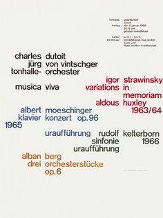 Josef Mueller-Brockmann, concert poster