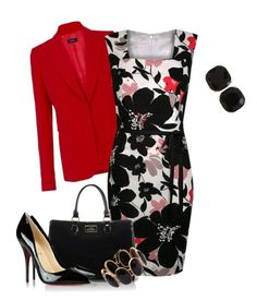 """""""I love this dress"""" by pollydickson ❤ liked on Polyvore featuring Joseph, Kaliko, Lulu Guinness, Christian Louboutin, Irene Neuwirth and Kate Spade"""
