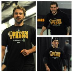 Boychuk Seguin and Marchand sporting the Boston Strong shirts, and it doesn't matter if they are traded or leave. they will always be a Bruin