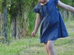 Adorable short-sleeves Capella, pattern by Grains de Couture pour Enfants, done by Une idée derrière la tête