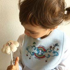 Baby cotton blue bib for a baby boy fashion!💙