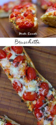 Bruschetta é uma fatia de pão italiano coberto com azeite extra virgem, alho, sal e pimenta do reino. Pode levar ou não tomates e queijo fundido, aceita bem diversas outras …