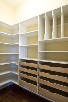 Master bedroom closet design, The meaning of a master bedroom's closet varies from one person to another. A luxurious master bedroom would have a huge closet design like a small room on itself, whi Pantry Closet Organization, Closet Organizer With Drawers, Pantry Room, Pantry Storage, Closet Storage, Organization Ideas, Closet Drawers, Organizing Tips, Pantry With Drawers