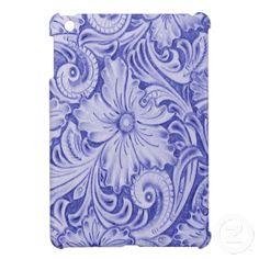 Western Leather, Tooled Flower, Classy, Stylish iPad Mini Cover