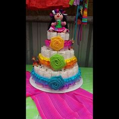 mexican theme baby shower diaper cake