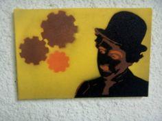 Spray in canvas.. Chaplin
