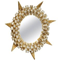 "Rare Line Vautrin ""Tudor"" Mirror 