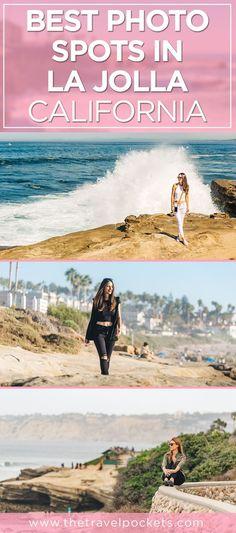 Best places to take photos in La Jolla California USA - Windansea Beach Shell Beach Children's Pool La Jolla California, California Travel, California Fashion, Southern California, Usa Travel Guide, Travel Usa, Travel Tips, Travel Stuff, Canada Travel