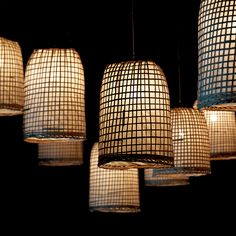 + Pendant Lampe made of bamboo & rice paper . Custom Lighting, Cool Lighting, Lighting Design, Inexpensive Furniture, Cool Furniture, Make A Lamp, Paper Light, Handmade Lamps, Diy Interior