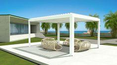 Pergola In Front Of Garage Enclosures, Home, Confortable, Pergola Designs, Outdoor Furniture, Sun Shade, Roofing, Fabric Panels, Outdoor Design