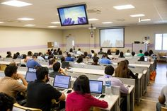 Students love our state-of-the-art classrooms, which feature high-speed Internet at every seat, high-definition video, and interactive lecture technology.     Learn more about the perks of being a student at AUA: http://qoo.ly/arnmk