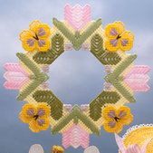 Spring Flowers Wreath Plastic Canvas Pattern ePattern