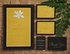 Vrolijke gele trouwkaarten. Bestel ze hier!