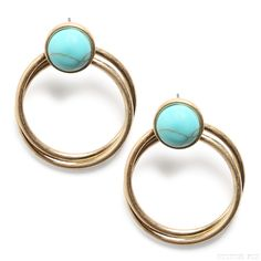 Stitch Fix Style | This Just In: Esther Stone and Ring Earrings