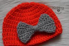 PATRON GRATIS!!!! Ya tienen el blog el patron para este hermoso gorro para bebés de 0-6 meses. https://knittingurdreams.com/2018/04/06/gorro-a-crochet-para-bebe/