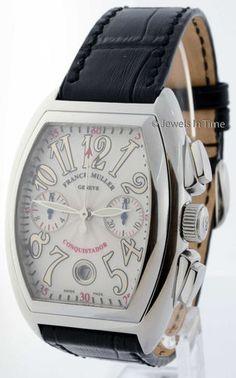 Franck Muller Conquistador 8002 CC Steel Chronograph Automatic Mens Watch