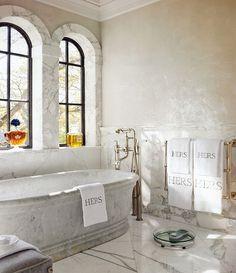 stone tub, classic plumbing