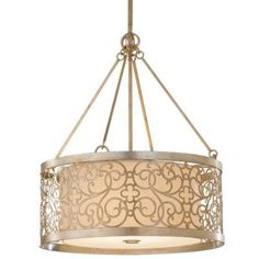 Arabesque Drum Pendant by Murray Feiss by Lumens Light