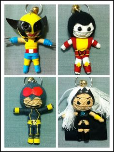 Hey, I found this really awesome Etsy listing at https://www.etsy.com/listing/193332594/set-4dolls-x-men-voodoo-string-doll