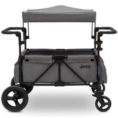 Jeep Wrangler Stroller Wagon With Included Car Seat Adapter By Delta Children - Gray : Target Double Strollers, Baby Strollers, Roll Down Shades, Kids Wagon, Stroller Cover, Jeep Stroller, Delta Children, Family Adventure, Baby Car Seats