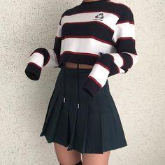 Gorgeous Clothes on korean street fashion 515 Korean Outfits, Mode Outfits, Grunge Outfits, Skirt Outfits, Casual Outfits, Fashion Outfits, Fashion Ideas, Korean Fashion Trends, Korean Street Fashion