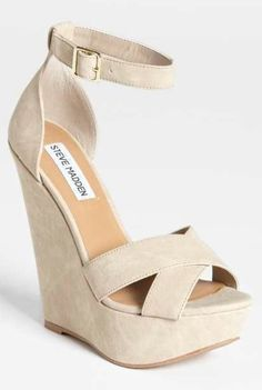 b40bf8f31e2f Nude Wedges. ..Lovely Ankle Strap Wedges