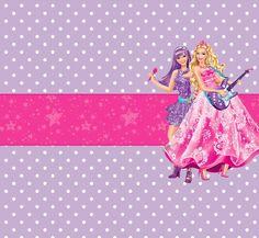 Barbie Moda y Magia y Barbie Rock Star: Etiquetas Gratis para Candy Bar.   Ideas…