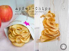 Apfel-Chips.... mit Zimt und Zucker, nur Zucker oder vielleicht ganz ohne?