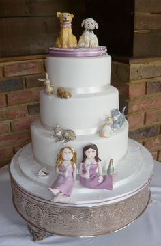 Pet Party Civil Partnership Cake. www.designer-cakes.co.uk Lancashire Wedding Cake Maker