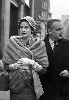 MONACO: Princess Grace and Prince Ranier, London, 1959