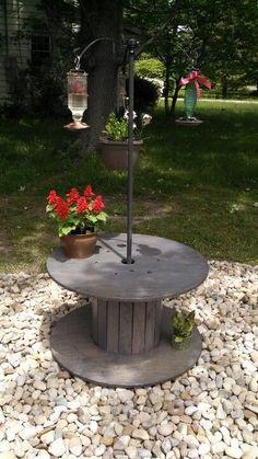 My new hummingbird garden courtesy of my wonderful husband! #Woodenspools