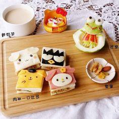 Sanrio sandwiches by ilisaliu (@ilisa_liu)