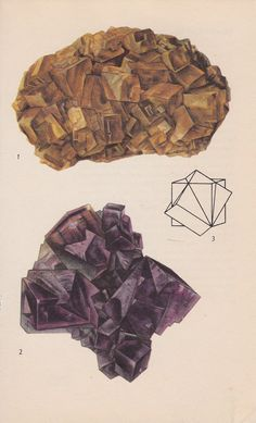 Vintage Print Rocks and Minerals Fluorite by PineandMain on Etsy. $6.00, via Etsy.