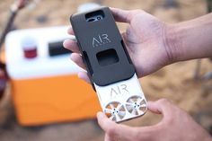 AirSelfie Portable Flying Camera Drone Integrated into Phone Case