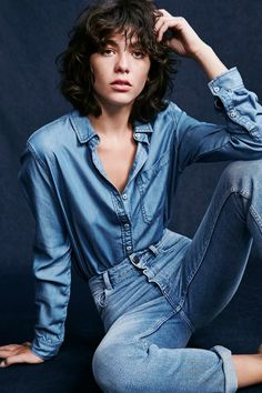 Just because it's fall, it does not mean you have to give up your denim, and Urban Outfitters shows us just how with a new lookbook spotlighting all denim styles. Model Steffy Argelich poses in head to toe denim fashions ranging from retro cool color-blocked styles to more modern cuts in the feature. | @andwhatelse