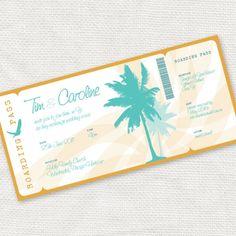 Ticket. // 15 superleuke DIY's voor je bruiloft   ThePerfectWedding.nl