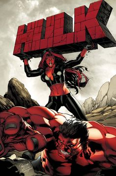 Red Hulks ~ art by Carlos Pagulayan